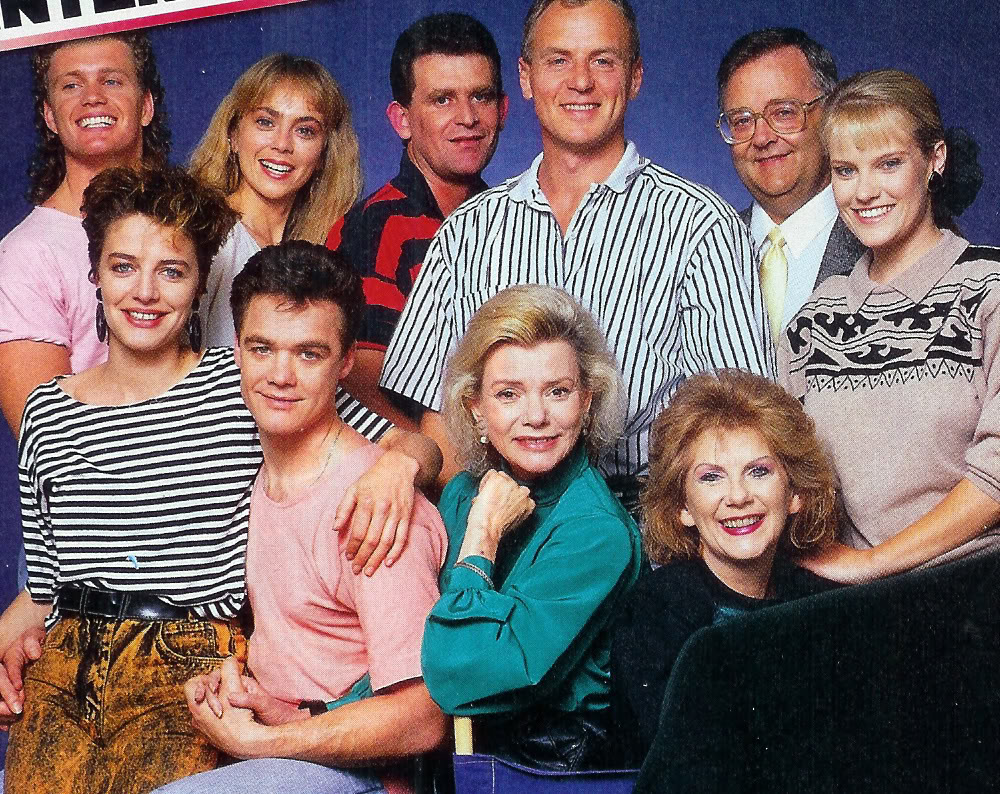 1980s cast photo from the TV show 'Neighbours